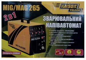 Сварочный полуавтомат Kaiser MIG-265(+MMA)