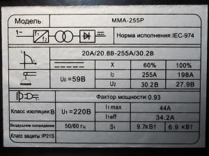 Сварочный инвертор Edon MMA 255Р